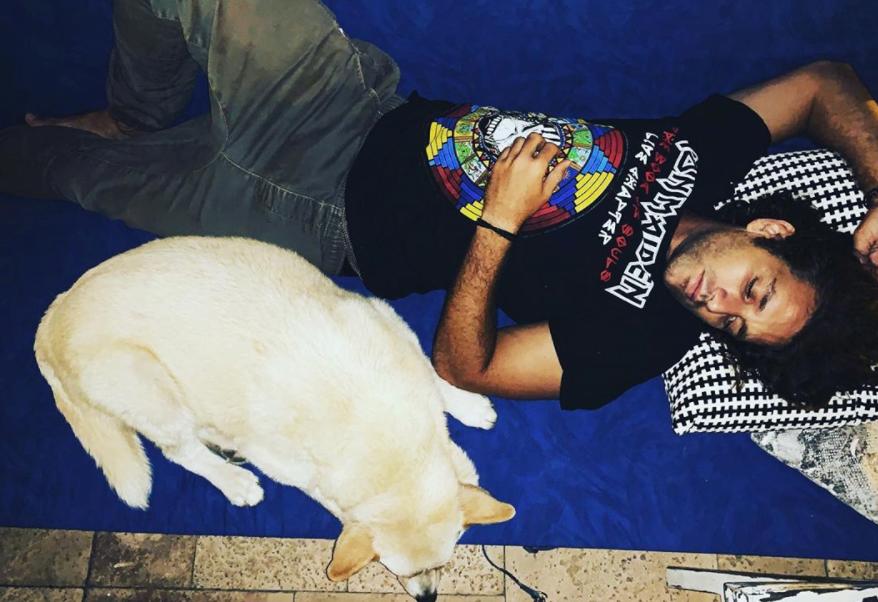 dog-and-nimrod-santo